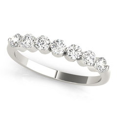 1/2CT SEVEN STONE PRONG BAND
