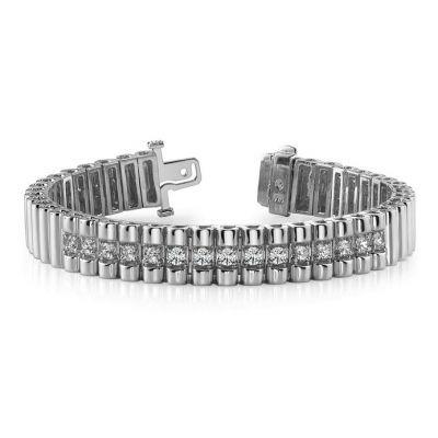 Doubl Center Diamond Strand Bracelet